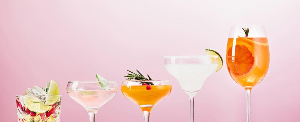 Les verres à cocktail